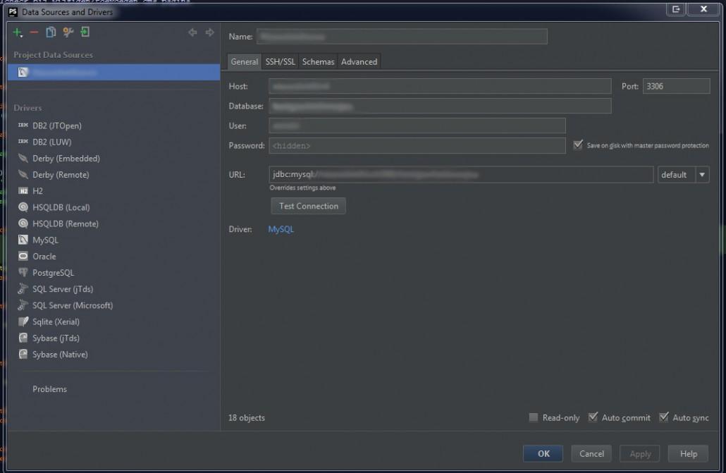 PhpStorm Database integratie